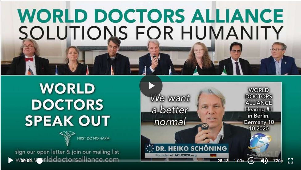 World Doctors' Alliance: Another group of internationally-renowned medical experts call for end of all coronavirus restrictions